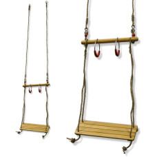 Гимнастическа дървена люлка за деца MASTER  комплект