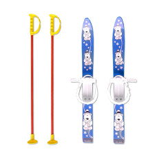 Детски ски + щеки MASTER, 70 см, сини