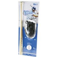 Беизболен комплект SPARTAN Senior, бухалка, ръкавица и топка