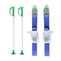 Детски ски + щеки MASTER, 60 см, сини