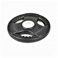 Гумиран диск Bodyflex Ф50, 2.5 кг, със захват