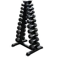 Хексагонални гири/дъмбели Sportmax Сет 1-10кг, гумирани, профи
