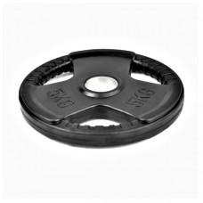 Гумиран диск Bodyflex Ф50, 5 кг, със захват