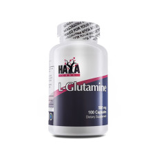 Аминокиселина Haya Labs L-Glutamine 500mg