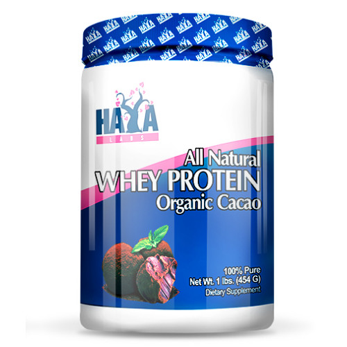 Суроватъчен протеин Haya Labs 100% All Natural Whey Protein / Organic Cacao