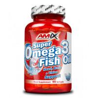 Рибено масло Amix Super Omega 3, 90 капсули
