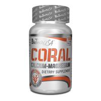 Калций и Магнезий BIOTECH USA Coral, 100 таблетки