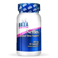 Витамини и минерали Haya Labs Nettles 400 мг., 60 капс.