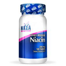 Витамин Haya Labs Niacin /Time Release, 250mg