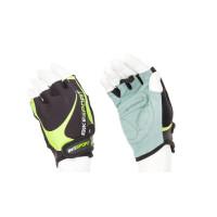 Дамски ръкавици BIKESPORT GLM-367-M черно-зелени