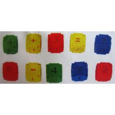 Конструктор с различни цветове с цифри