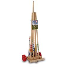 Крокет LUCIO LONDERO с дървена количка за 4 играчи