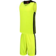 Екип за баскетбол, потник с шорти - неоново зелен с черно