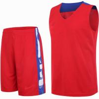 Екип за баскетбол - червен със синьо