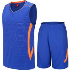 Екип за баскетбол, детски - син с оранжево