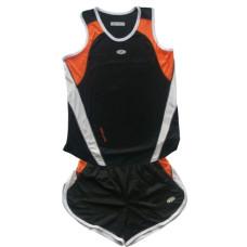 Баскетболен екип - черно с оранжево и бяло