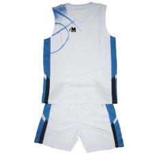 Баскетболен екип бял със синьо 4XL-5XL