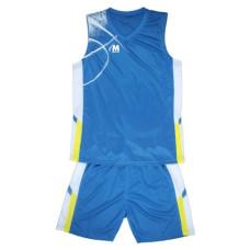 Баскетболен екип син с бяло 2XL-5XL