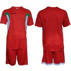 Екип за футбол, волейбол и хандбал - червено, бяло и зелено