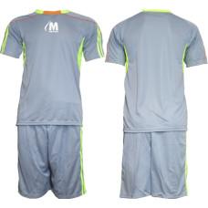 Екип за футбол, волейбол и хандбал - сиво и ел. зелено