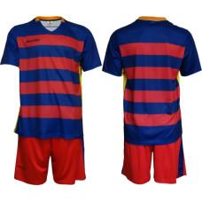 Екип за футбол, волейбол и хандбал - червено и синьо