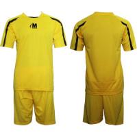 Екип за футбол, волейбол и хандбал - жълто и черно