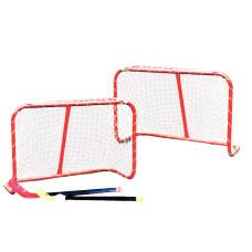 Врати за хокей в зала Master Д: 81 х В: 54 х Ш: 31 см със стикове