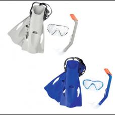 Комплект за гмуркане с плавници BESTWAY Hydro Swim 25025 - сиви