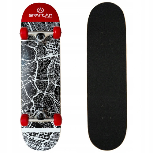 Скейтборд SPARTAN Utop Board Skull City, 78х20см