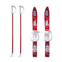 Детски ски + щеки MASTER, 70 см, червени
