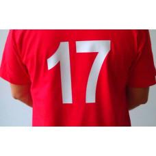 Цифри за спортни екипи , 8 и 24см, + залепване
