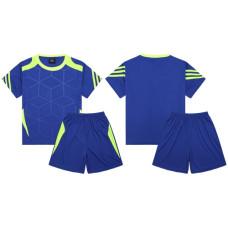 Екип за футбол, волейбол и хандбал, детски - син с неоновозелено