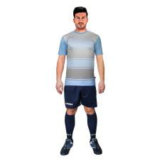 Футболен екип Legea Lubecca, синьо-сиво-черно