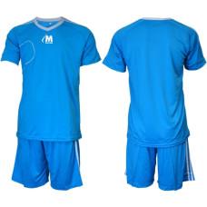 Екип за футбол, волейбол и хандбал - светло син