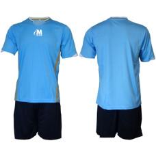 Екип за футбол, волейбол и хандбал - светло син с черно