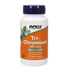 Фет бърнър NOW Tri-Chromium 500мг., 90 капс.