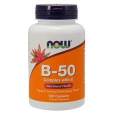 Витамин B-50 NOW Complex with 250мг. Vitamin C, 100 капс.