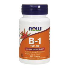 Витамин B-1 /Тиамин/ NOW, 100мг., 100 табл.