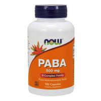 Витамини В-комплекс NOW PABA 500мг., 100 капс.