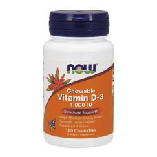 Витамин D-3 NOW / 1000 IU /, 180 гел капсули