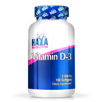 Витамин D-3 HAYA LABS / 5000 IU /, 100 капсули