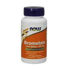Бромелаин NOW 500мг., 60 капс.