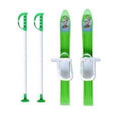 Детски ски + щеки MASTER, 60 см, зелени