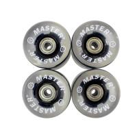 Резервни колела за пениборд/лонгборд  MASTER 60 x 45 мм, светещи, черни