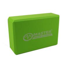 Йога блок MASTER, зелен